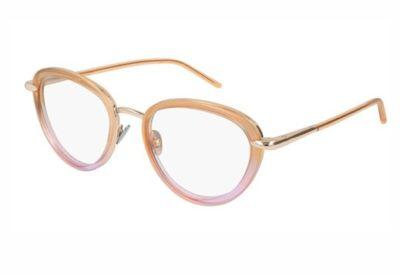 Pomellato PM0058O 004 gold orange transpare 51 Women's Eyeglasses