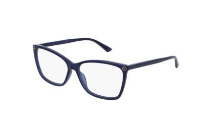 Gucci GG0025O blue 56 Women's Eyeglasses