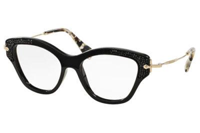 Miu Miu 07OV 1AB1O1 52 Women's Eyeglasses
