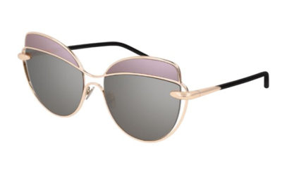 Pomellato PM0056S 001 gold black grey 57 Women's Sunglasses