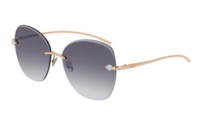 Pomellato PM0066S 001 gold gold grey 57 Women's Sunglasses