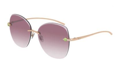 Pomellato PM0066S 002 gold gold violet 57 Women's Sunglasses