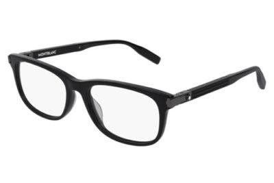 Montblanc MB0036O 001 black black transpare 54 Men's Eyeglasses