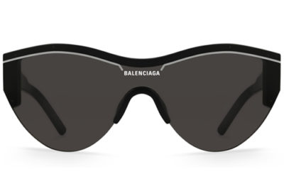 Balenciaga BB0004SA 001 black grey Unisex Sunglasses