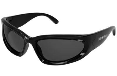 Balenciaga BB0157S 001 black grey 65 Men's Sunglasses