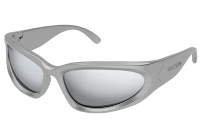 Balenciaga BB0157S 004 silver 65 Men's Sunglasses