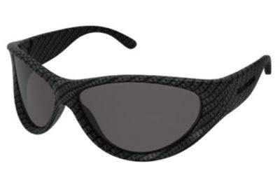 Balenciaga BB0158S 003 grey grey grey 71 Unisex Sunglasses