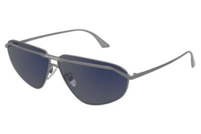 Balenciaga BB0138S 002 ruthenium ruthenium b 66 Men's Sunglasses