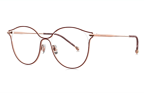 Bolon BJ7063B31 pink gold claret red 53 Eyeglasses