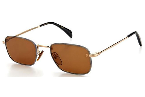 David Beckham Db 1035/s F6W/70 GOLD HORN 53 Men's Sunglasses