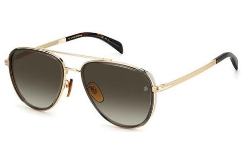 David Beckham Db 7068/g/s 2F7/HA GOLD GREY 58 Men's Sunglasses