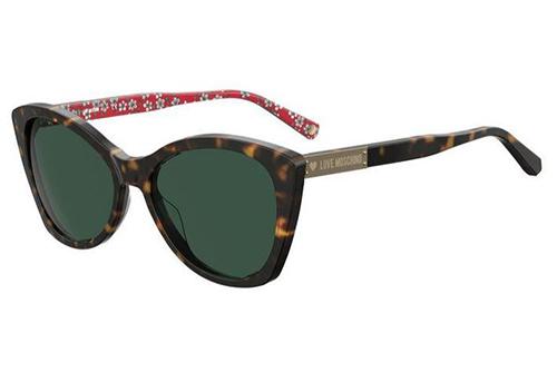 Moschino Mol031/s 086/QT HAVANA 54 Women's Sunglasses