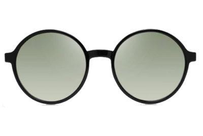 MODO VERBIER clip on black rose gold 52 Women's Sunglasses