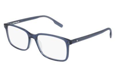 Montblanc MB0152O 007 blue blue transparent 56 Men's Eyeglasses