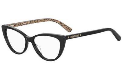 Moschino Mol539 7T3/15 BLK ANIMALIE 52 Women's Eyeglasses