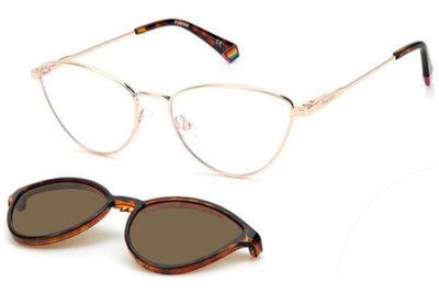 Polaroid Pld 6157/cs DDB/SP GOLD COPPER 55 Women's Eyeglasses